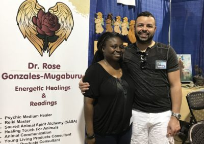 Patricia & Donell at Body, Mind & Spirit Expo 2017 Raleigh NC