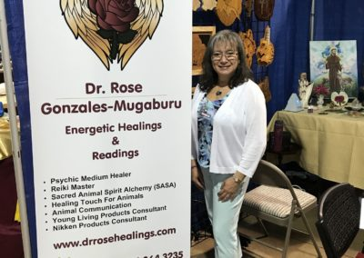 Dr. Rose Gonzales-Mugaburu at Body, Mind & Spirit Expo 2017 Raleigh NC