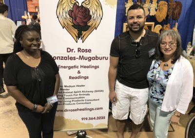 Dr. Rose With Patricia & Donell at Body, Mind & Spirit Expo 2017 Raleigh NC